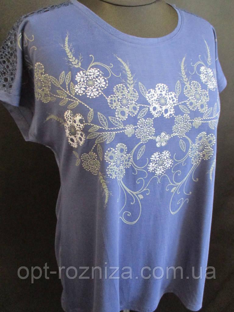Красиві жіночі футболки з ажурною вставкою