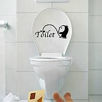 Виниловая наклейка- пингвин(туалет)