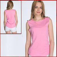 Женская футболка нежно розового цвета *Bottoni*, фото 1