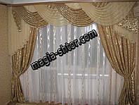 Ламбрекен для зала, спальни на карниз 3 метра