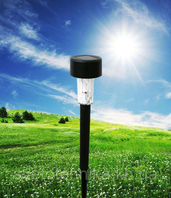 Светильник садово-парковый Lemanso CAB 114 (черный) на солнечной батарее LED белый