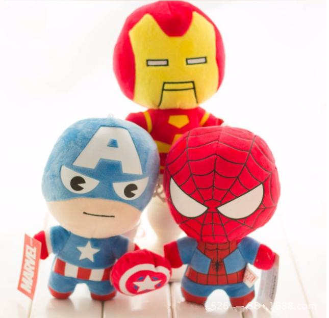 Супергерои Марвел брелок на рюкзак  Халк тор Спайдермен Капитан Америка Мстители мягкий плюшевый