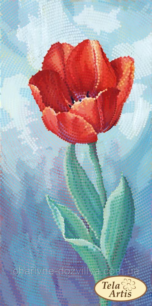 """Схема для вышивки бисером на атласе """"Садовые зарисовки. Тюльпан"""""""