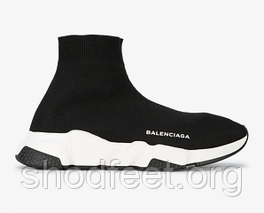 Женские кроссовки Balenciaga Speed Mid Sneaker Black/White