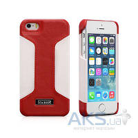 Чехол iCarer Colorblock for iPhone 5/5S Red/White