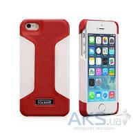 Чехол iCarer Colorblock Apple iPhone 5, iPhone 5S, iPhone SE Red/White
