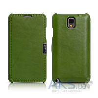 Чехол iCarer Side Open Luxury for Samsung N9000 Galaxy Note 3 Green