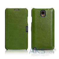 Чехол iCarer Side Open Luxury Samsung N9000 Galaxy Note 3 Green