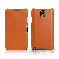 Чехол iCarer Side Open Luxury Samsung N9000 Galaxy Note 3 Orange