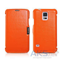 Чехол iCarer Side-open Luxury for Samsung Galaxy S5 Orange