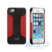 Чехол iCarer Colorblock for iPhone 5/5S Black/Red