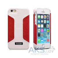 Чехол iCarer Colorblock for iPhone 5/5S White/Red