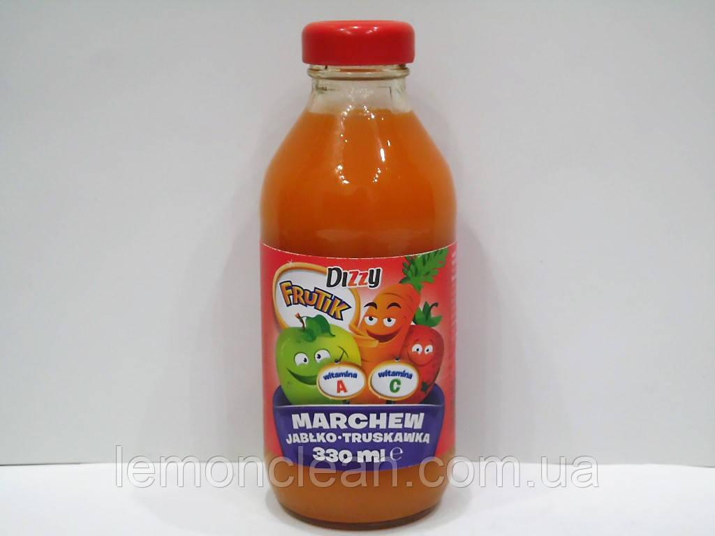 Соковый напиток Dizzy Frutik (морковь, яблоко, клубника), 330 мл