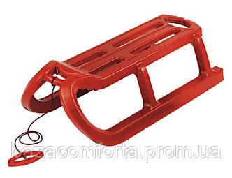 Санки Alpen Rodel красные, фото 2