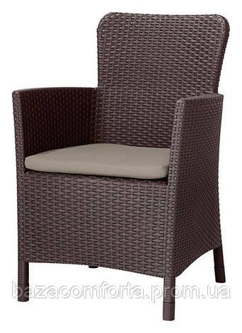 Кресло пластиковое Miami DC, коричнево-бежевое, фото 2