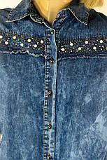 Джинсова туніка плаття з стразами 0136, фото 3