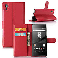 Чехол для Sony Xperia XA1 / G3112 / G3116 / G3121 / G3125 / G3123 книжка кожа PU красный