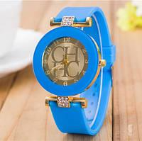 Жіночі годинники CHHC голубі з золотим