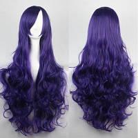 Фиолетовый яркий кудрявый парик 80см