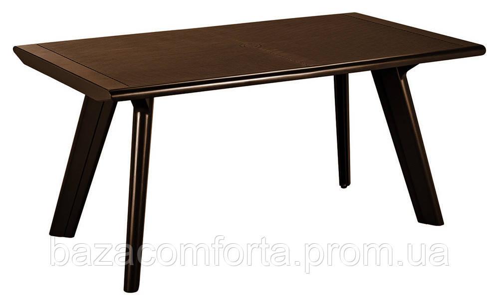 Стол пластиковый Dante, коричневый