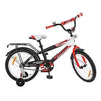 Велосипед детский 18 дюймов ProfiG1855Inspirer, черно-бел-красн(мат)