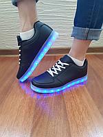 Кроссовки с LED подсветкой унисекс Black 10