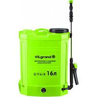 Опрыскиватель аккумуляторный ViLgrand SGA-16RP 16л (12 В; регулятор мощности; раздвижная удочка 96 см)
