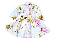 Платье Детское  «Голубая сирень» хлопок, фото 1