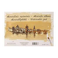 Альбом для акварели А3 SMILTAINIS GOLD, 200кв.м, 10листов Целлюлоза