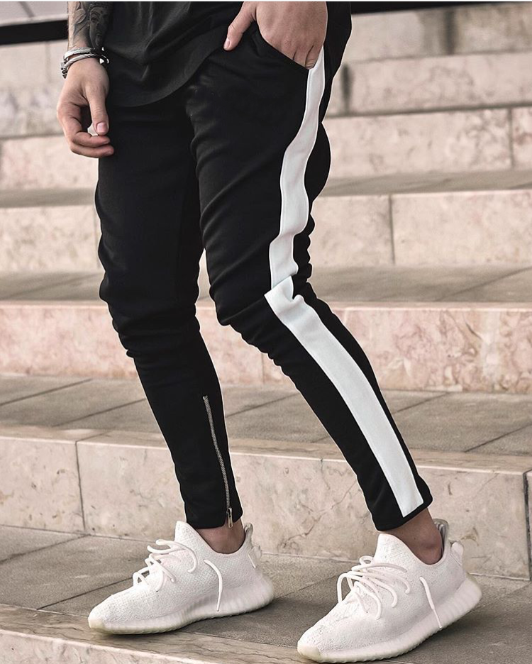 7fa41ff4 Штаны мужские хлопок White Stripes, спортивные штаны мужские модные - MAN  BRAND SHOP в Харькове