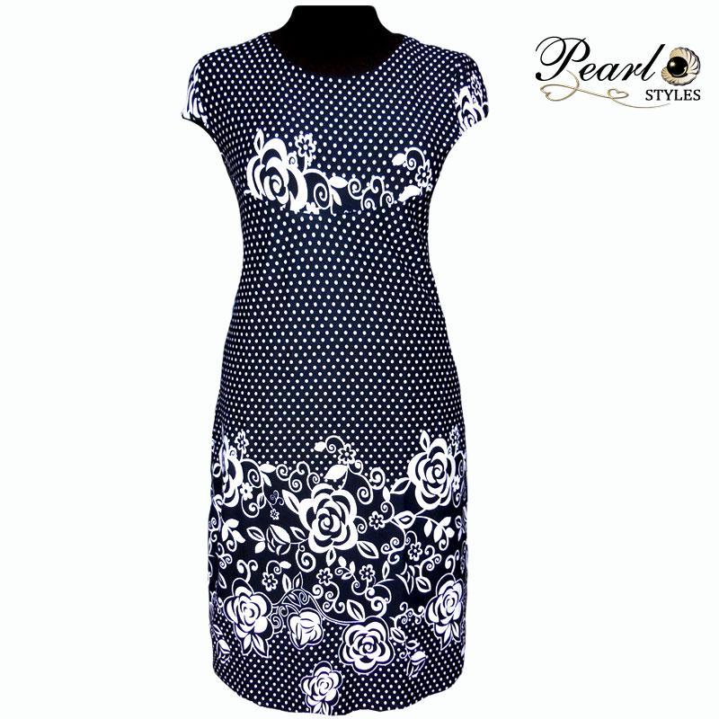 Платье купонное в горошек