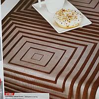 Салфетка жаккардовая 40х150 шоколадного цвета