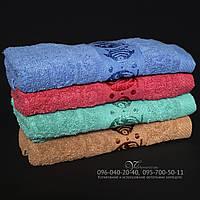 Однотонное банное полотенце 676. Размер 140х70. 100% хлопок, качество отличное