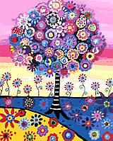 """Картина по номерам """"Красочной дерево"""" 40*50см"""