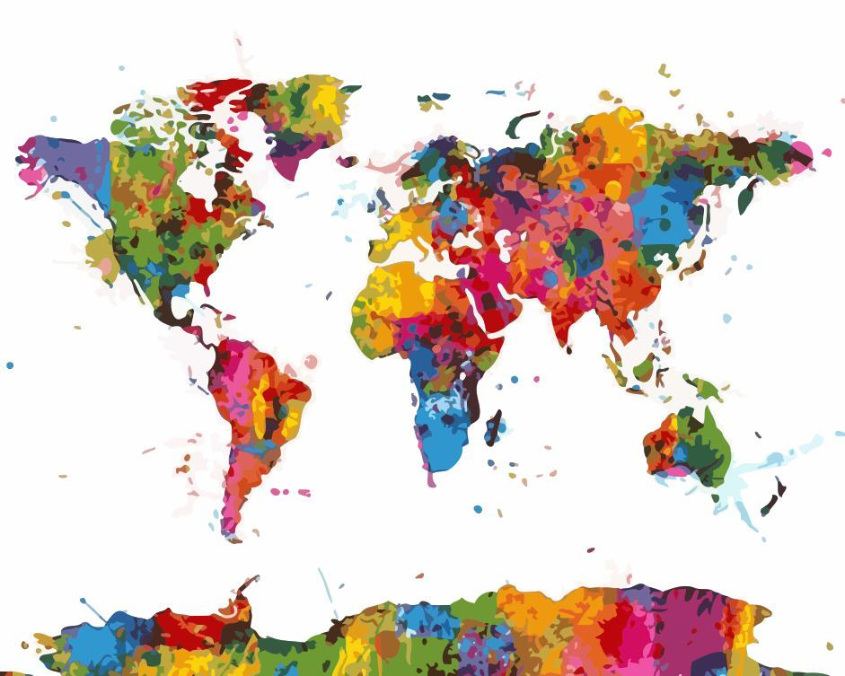 "Картина по номерам ""Карта мира"" 40*50см"