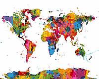 """Картина по номерам """"Карта мира"""""""