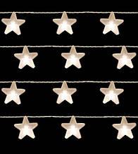 Гирлянда  1.05 м, 8 LED-ламп, звезды