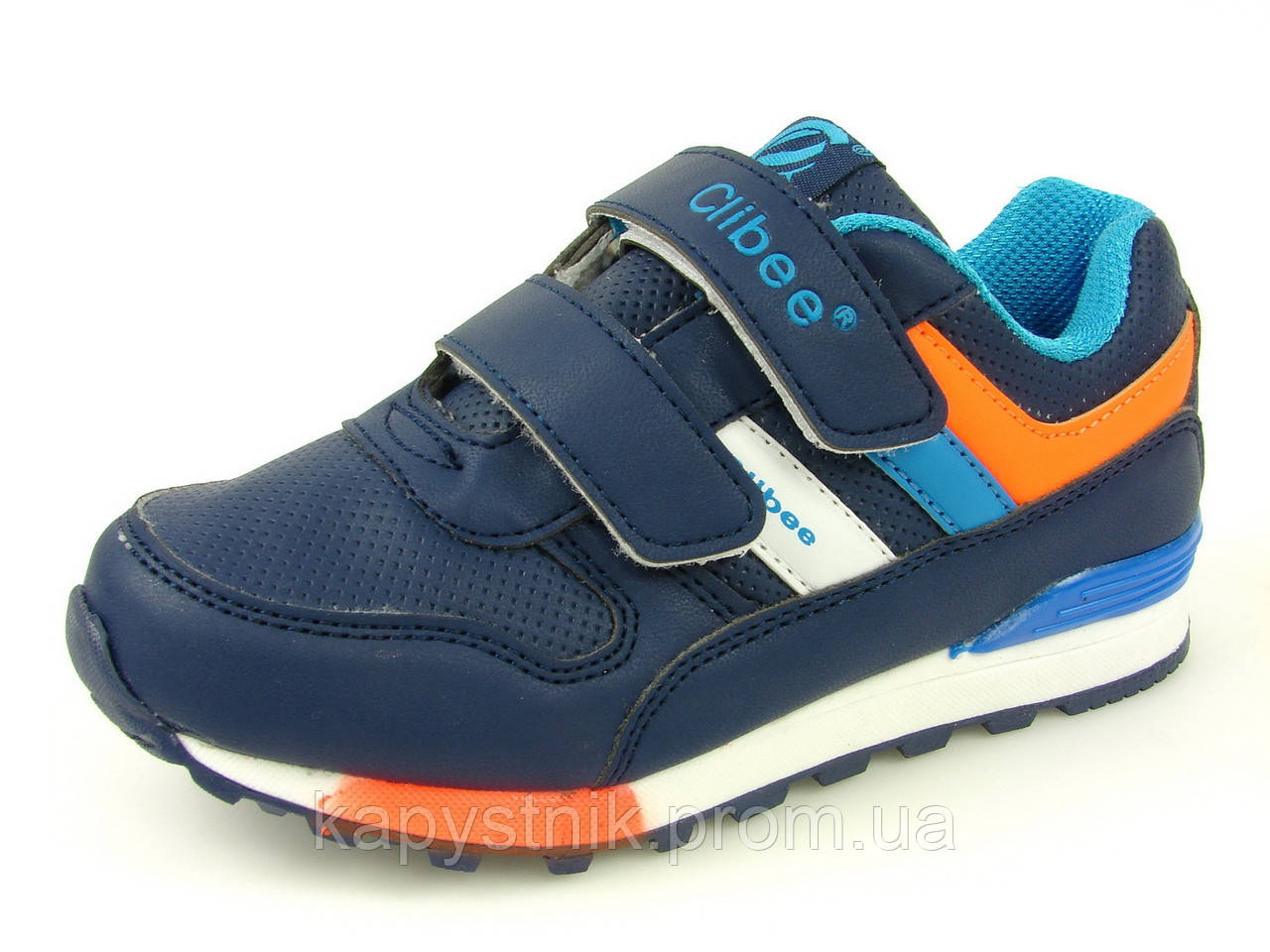d8bc7d2ad09d Детские кроссовки для мальчика р.31-34 ТМ Clibee  F-635 Синий+Оранж ...