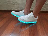 Кроссовки с LED подсветкой унисекс White 40