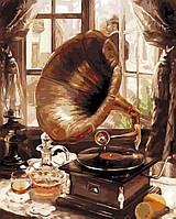 "Картина по номерам ""Старый граммофон"" 40*50см"