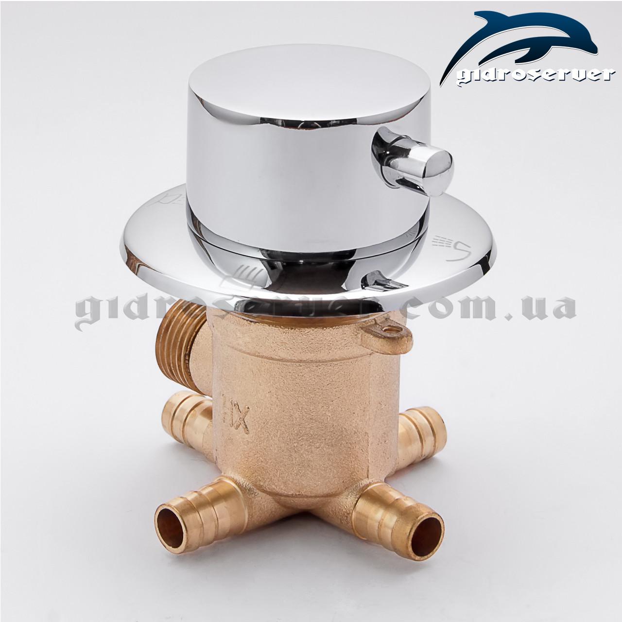 Перемикач для змішувача душової кабінки, гідромасажного боксу PS-04 на 4 положення.