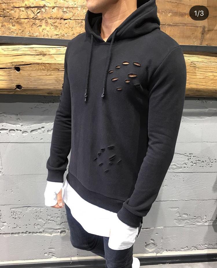 1387ab5f8 Худи с дырками, мужская кофта с дырками, свитер, с дырками, цена 599 ...