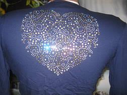 Болеро синее с камушками сердце, фото 3