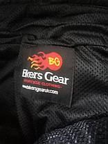 Мотоциклетные кожаные штаны Bikers Gear 175см рост.  50 размер., фото 2