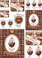 Декупажная карта Cheap-Art Шоколадное настроение 30,8х44см
