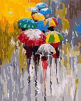 """Картина по номерам """"Яркие зонтики"""" 40*50см"""