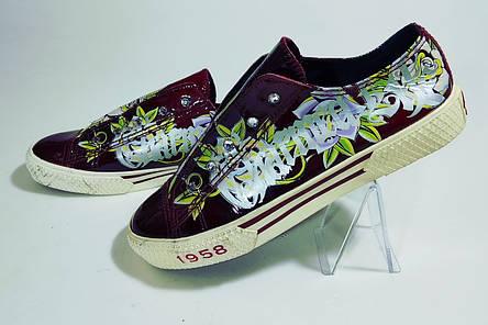 Кеды  женские стильные 38 размер бренд Christian Audigier, фото 2
