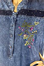 Платье джинсовое большого размера с вышивкой Sinsere, фото 3