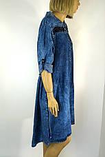Платье джинсовое большого размера с вышивкой Sinsere, фото 2