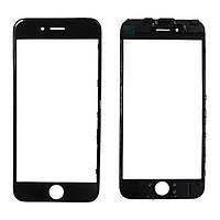 Стекло дисплея iPhone 6 Plus черное (стекло с OCA-пленкой, рамка крепления дисплея в сборе)